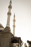 Mosque and minarets Stock Images