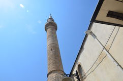 A mosque minarets piercing the sky in Antalya Old City Stock Photos