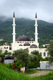 Mosque with minarets. Mosque with two minarets in Old Bar in Montenegro Royalty Free Stock Image