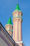 Mosque minarets Tynychlyk Stock Photo