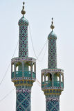 Mosque minarets of Yazd, southern Iran Stock Image