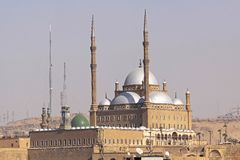 Mosque Mohammed Ali. Mohammed Ali Alabaster mosque at Citadel in Cairo Stock Photography