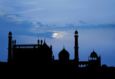 Mosque moonlight Royalty Free Stock Photos