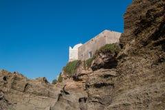 Mosque on the moroccan Atlantic Ocean coast Stock Photo