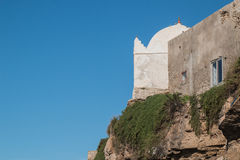 Mosque on the moroccan Atlantic Ocean coast Royalty Free Stock Photography