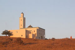 Mosque in a Moroccan Village stock photography