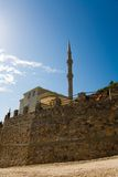 Mosque in mountains Turkey Stock Photo