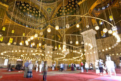 Mosque of Muhammad Ali. Egypt. Cairo. The Mosque of Muhammad Ali (or Mohamed Ali Pasha, also known as the Alabaster Mosque) inside royalty free stock photography