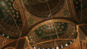 Mosque of Muhammad Ali Pasha. Interior. Egypt stock footage