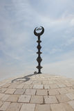 The mosque with the Muslim crescent Royalty Free Stock Photo