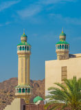 Mosque, Mutrah, Muscat, Oman. Mosque along the corniche, the harbor facing avenue of the old city of Mutrah, Muscat, Oman Royalty Free Stock Photography