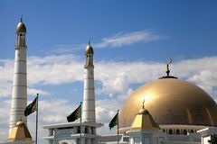 Mosque in native village of first president of Turkmenistan Niya. Zov. Hi was brought here. Turkmenistan Stock Image