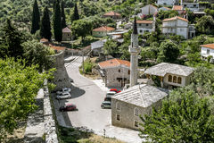 Mosque near the old town of Bar in Montenegro on a summer day Royalty Free Stock Photos