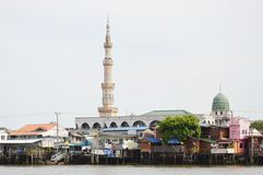Mosque near the river Royalty Free Stock Photo