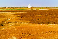 Mosque near Sennar in Sudan on Sahara desert Stock Photos