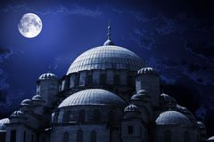 Mosque night royalty free stock photo
