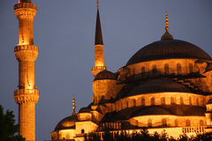 Mosque at night Royalty Free Stock Photography