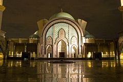 Mosque at Night Royalty Free Stock Photo