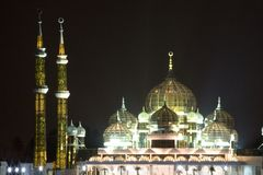 Mosque at Night Stock Image
