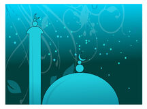 Mosque in night. Adobe illustrator work. people can use this for islamic needs Royalty Free Stock Photography