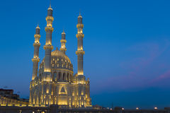 Mosque. At night in Baku, Azerbaijan Stock Photography
