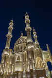 Mosque. At night in Baku, Azerbaijan royalty free stock photography