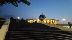 Mosque when night coming Stock Images
