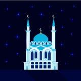Mosque at night, flat vector Stock Photos