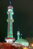 Mosque nightscape Royalty Free Stock Photo
