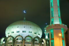 Mosque nightscape Royalty Free Stock Photos