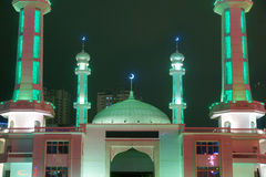 Mosque nightscape Stock Images
