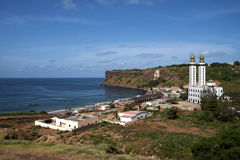 Mosque on the oceanside. Photo taken in west Africa royalty free stock photo