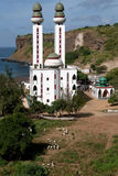 Mosque on the oceanside. Photo taken in west Africa Stock Images