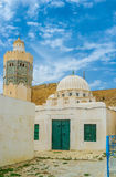 The mosque with octagonal minaret Royalty Free Stock Photos