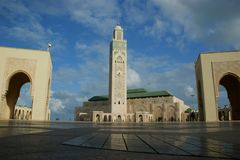 Mosque Of Hassan II In Casablanca Royalty Free Stock Photos