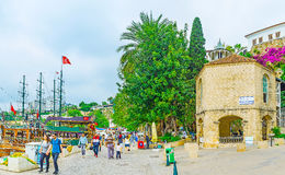 The mosque in old marina of Antalya Royalty Free Stock Images