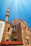 Mosque in the old Rhodes town centre Royalty Free Stock Photo