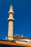 Mosque in the old Rhodes town centre Royalty Free Stock Images