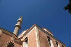 Mosque in Old Town, Rhodes, Greece Royalty Free Stock Images