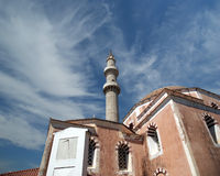 Mosque in Old Town, Rhodes, Greece Royalty Free Stock Image
