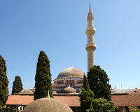 Mosque in Old Town, Rhodes, Greece Royalty Free Stock Photography