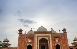 Mosque opposite the Taj Mahal. The jama Masjid Mosque opposite the Taj Mahal in Agra. Beautiful example of the mughal architecture Stock Image