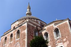 Rhodes Old City - Turkish quarter, the Suleymaniye Mosque. Dodecanese Islands, Greece. The mosque is originally built after the Ottoman conquest of Rhodes in stock photos