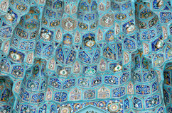 Mosque Ornament. A portion of the mosaic on the exterior of the mosque located in Saint Petersburg, Russia Stock Photo