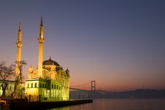 Mosque in Ortakoy Stock Images