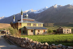 The mosque in Padum town in Zanskar valley (India) Stock Image