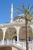 Mosque and the palm Stock Photography