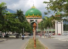 Mosque Palu City Seafront. In Sulawesi / Indonesia before the earthquake and tsunami of 2018 stock images