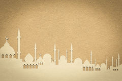 Mosque paper  , paper design for web ,Stickers, Tags Royalty Free Stock Images