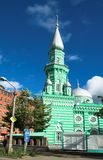Mosque in Perm. Green mosque in Perm, Russia Royalty Free Stock Image